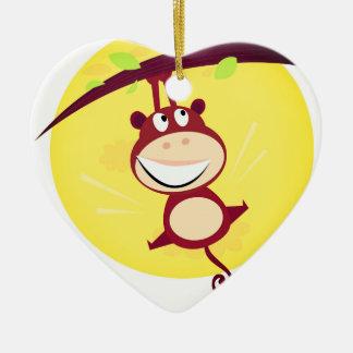 Neu im Geschäft: Acrylherz mit kleinem Affen Keramik Ornament