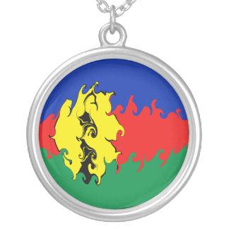 Neu-Kaledonien Gnarly Flagge Halskette Mit Rundem Anhänger