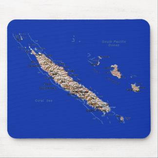 Neu-Kaledonien Karte Mousepad