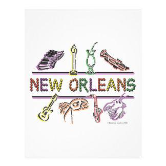 Neu-Orleans-IKONEN Kopie 21,6 X 27,9 Cm Flyer