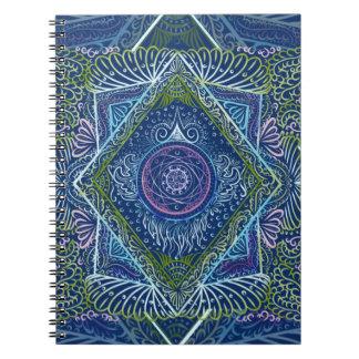 Neu wecken Sie - Nachtblau, das reiki und heilen, Spiral Notizblock