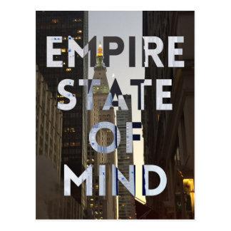 Neu-York-Stadt-Reich-StaatVon mind Postkarte