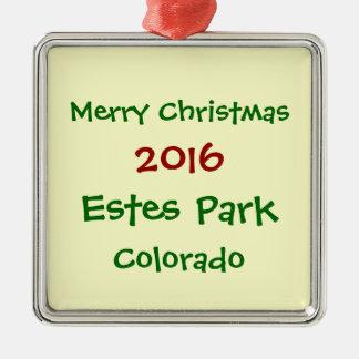 NEUE 2016 ESTES PARK-COLORADO-WEIHNACHTSverzierung Silbernes Ornament
