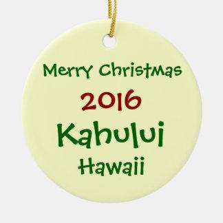 NEUE 2016 KAHULUI HAWAII FROHE KERAMIK ORNAMENT