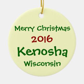 NEUE 2016 KENOSHA WISCONSIN WEIHNACHTSverzierung Keramik Ornament
