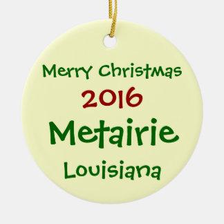 NEUE 2016 METAIRIE LOUISIANA WEIHNACHTSverzierung Keramik Ornament