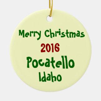 NEUE 2016 POCATELLO IDAHO WEIHNACHTSverzierung Keramik Ornament