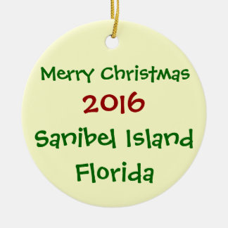 NEUE 2016 SANIBEL KERAMIK ORNAMENT