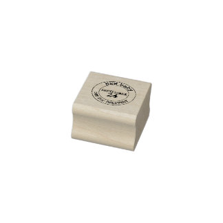 Neue Abgabefrist-Gummi-Briefmarke des Gummistempel