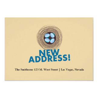 neue Adresse 12,7 X 17,8 Cm Einladungskarte
