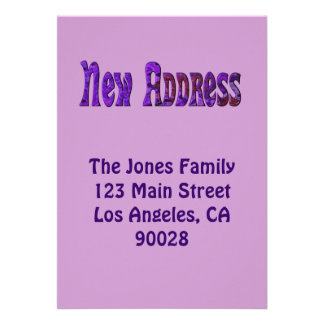 Neue Adresse Personalisierte Ankündigungskarte