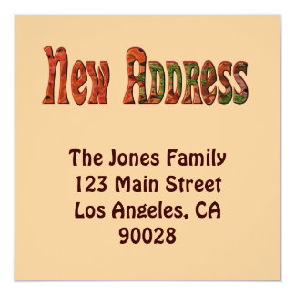 Neue Adresse Personalisierte Ankündigung