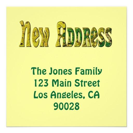 Neue Adresse Individuelle Einladungskarte