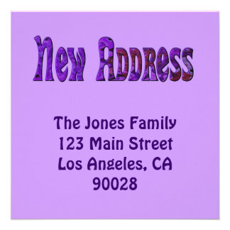 Neue Adresse Einladungskarten