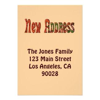 Neue Adresse Ankündigungskarte