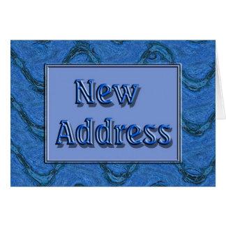 Neue Adresse Grußkarte