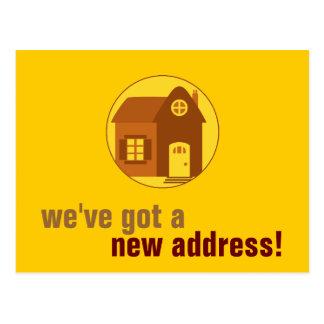 Neue Adresse: Kundengerecht Postkarte