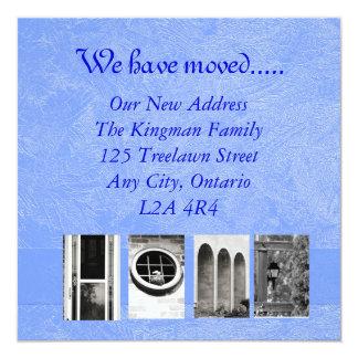 Neue Adresse Quadratische 13,3 Cm Einladungskarte