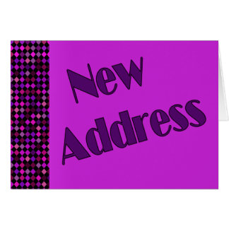 Neue Adressen-lila Rosa Karte