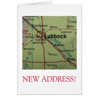 Neue Adressenmitteilung Lubbocks Karte