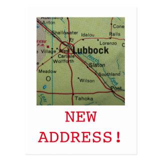 Neue Adressenmitteilung Lubbocks Postkarte