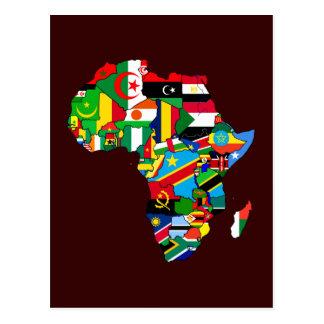 Neue afrikanische Landesflagge-Flaggen-Karte von Postkarten