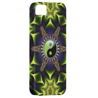 Neue Alters-Grün YinYang Hexagon-Neon-Fraktale iPhone 5 Etui