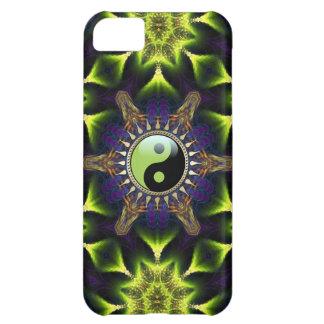 Neue Alters-Grün YinYang Hexagon-Neon-Fraktale iPhone 5C Hülle