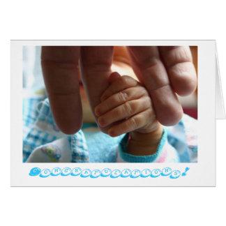 Neue Baby Glückwunsch-Grußkartengeschenke Grußkarte