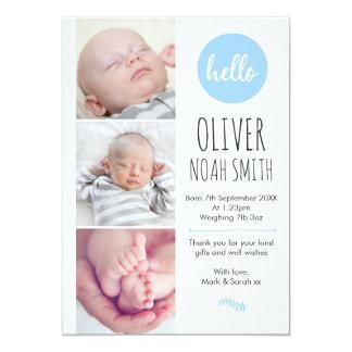 Neue Babymitteilung/danken Ihnen, A5 zu kardieren Karte