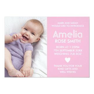 Neue Babymitteilung/danken Ihnen zu kardieren Karte