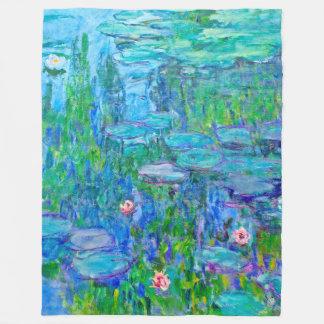 Neue blaues Wasser-Lilien-Teich Monet schöne Kunst Fleecedecke