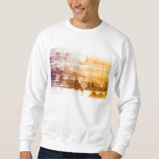 Neue futuristische Technologie auf einem weißen Sweatshirt