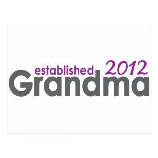 Neue Großmutter stellte 2012 her Postkarte