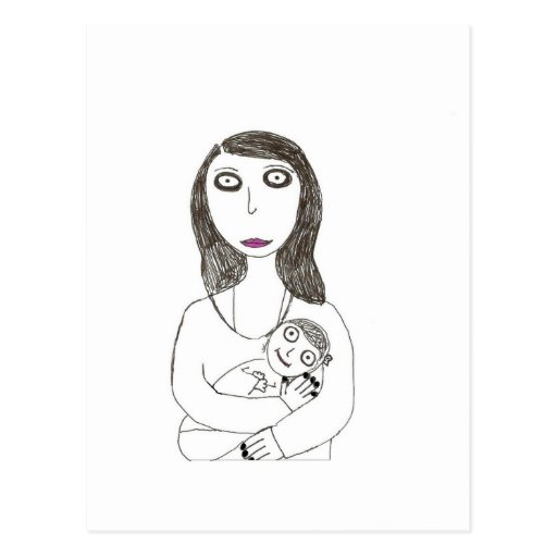 Neue gruselige Mamma Postkarte