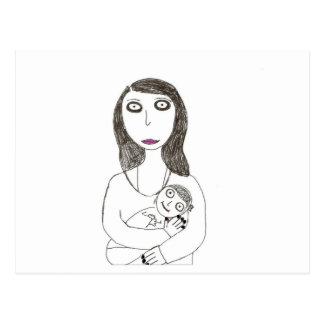 Neue gruselige Mamma Postkarten