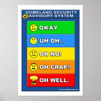 Neue heimat-Sicherheits-Beratungssystem - lustig Poster