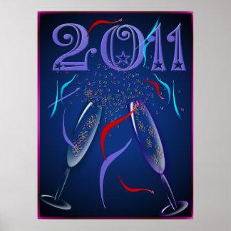 Neue Jahre Ebenen-Plakat- Poster