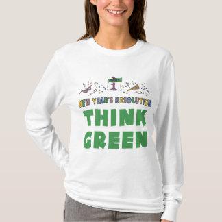 Neue Jahre Entschließungs-denke ökologisch-T - T-Shirt
