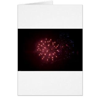 Neue Jahre Feuerwerke Grußkarte