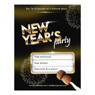 Neue Jahre Party-Flyer - völlig kundengerecht