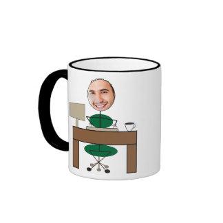 Neue Job-Büro-Tasse Ringer Tasse