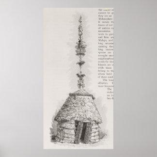 Neue kaledonische Hütte Poster
