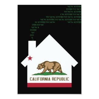 neue Kalifornien-Adresse 12,7 X 17,8 Cm Einladungskarte