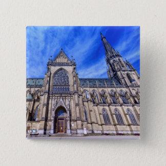 Neue Kathedrale, Linz, Österreich Quadratischer Button 5,1 Cm