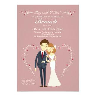 Neue Liebe-Posten-Hochzeitbrunch-Einladung Karte