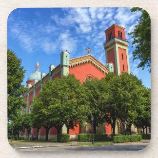 Neue lutherische Kirche in Kezmarok, Slowakei Getränkeuntersetzer