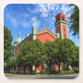 Neue lutherische Kirche in Kezmarok, Slowakei Rechteckiger Pappuntersetzer