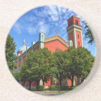 Neue lutherische Kirche in Kezmarok, Slowakei Sandstein Untersetzer