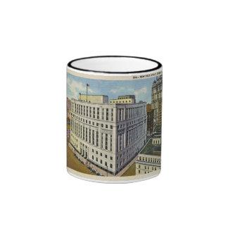 Neue Post Detroit, Michigan - Vintag Ringer Tasse